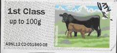 2012 1ST (S/A) 'CATTLE - WELSH BLACK' (A9NL12 C2) FINE USED