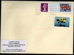 2012 1ST 'UNION FLAG ' POST & GO' BLANK +20P (S/A) CARDIFF SCOUT (2012) STAMP FINE USED ON COVER