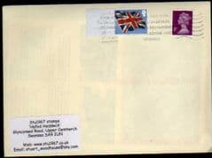 2012 1ST 'UNION FLAG ' POST & GO' BLANK FINE USED ON COVER