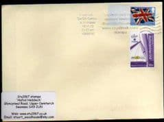 2012 1ST 'UNION FLAG ' POST & GO' BLANK + NEWPORT SCOUT (2012) STAMP FINE USED ON COVER
