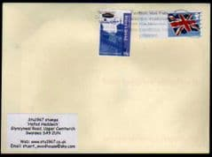 2012 1ST 'UNION FLAG ' POST & GO' BLANK + NEWPORT SCOUT (2012)STAMP FINE USED ON COVER