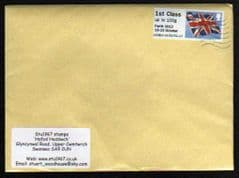 2012 1ST ( UPTO 100g) ' UNION FLAG' ( PERTH OVPT) FINE USED ON COVER