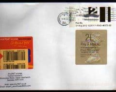 2012 '2L'(E 4) WELSH TYPE 3 HORIZON +2ND 'FAST STAMP (NAILSEA, ENG) LABEL ON COVER