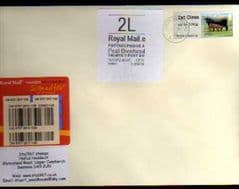 2012 '2L' WELSH WHITE HORIZON AND 1ST 'CATTLE'(TRURO) LABEL ON COVER