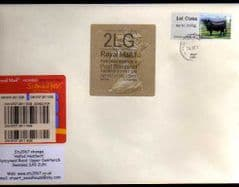2012 2LG' (F 4) WELSH TYPE 3+ 1ST 'CATTLE' (TRURO) POST & GO LABEL ON COVER