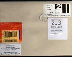2012 '2LG'(F 4)WELSH WHITE LABEL + 2LG POST & GO (SA9)  ON COVER