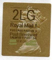 2012 '2LG' (F 5) WALSALL WELSH GOLD TYPE 3 LABEL * RARE CODE 5*