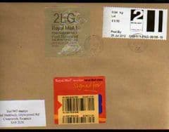 2012 2ND 'POST & GO'(CARDIFF 1)+ 2LG WELSH (WALSALL)(2a)'HORIZON' LABEL FINE USED COVER