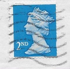 2012 2ND (S/A) 'BRIGHT BLUE ' (MTIL M12L)  MACHIN (FORGERY WITH MISPERF)  FINE USED