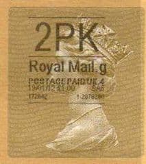 2012 '2PK' (G 4) GOLD HORIZON TYPE 2a