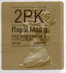 2012 '2PK'( G 4) HORIZON LABEL TYPE 3 (WALSALL)