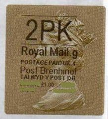 2012 '2PK' (G 4) WALSALL WELSH GOLD TYPE 3 LABEL