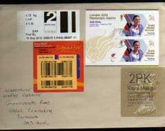 2012 2PK G(G 4) WELSH WALSALL TYPE 3 + 2LG FASTSTAMP(CARMS) ON COVER