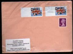 2012 2x 1ST 'UNION FLAG ' POST & GO' BLANKS FINE USED ON COVER