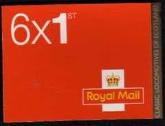 2012 6 X 1ST 'CLASSIC LOCO'S (SCOTLAND) RETAIL BOOKLET