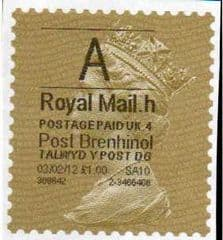 2012 'A'(H 4) 'POST BRENHINOL' GOLD PERF