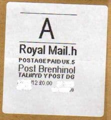 2012 'A'(H 5) (£0.00)POST BRENHINOL WHITE LABEL (LATE USE)