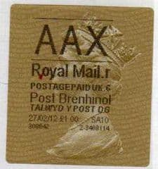 2012 'AAX ( R 6)' POST BRENHINOL TYPE II  WITH NEW CODES