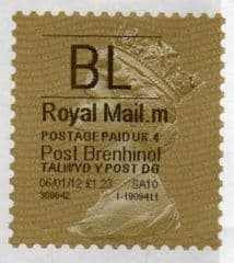 2012 'BL'(m 4) 'POST BRENHINOL' GOLD PERF TYPE I WITH CODES (LATE USE)