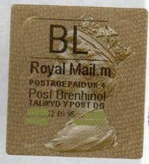 2012 'BL' (M 4) WALSALL WELSH GOLD TYPE 3 LABEL