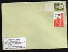 2012 (BLANK) 'SHEEP' + 18P NEWPORT SCOUT STAMP ON COVER