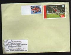 2012 (BLANK) 'UNION FLAG' + 10P 'GAIRSAY'(LOCAL STAMP) ON COVER