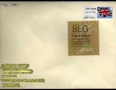 2012 'BLG' ( N 4) WELSH TYPE 1 *RARE LATE USE* + 1ST LARGE 'UNION FLAG' (CARDIFF) ON COVER