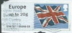 2012 (EUROPE 20g) 'UNION FLAG'  FINE USED