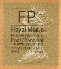 2012 'FP'( O 4) 'POST BRENHINOL' GOLD PERF (LATE USE)