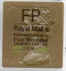 2012 'FP' (O 4) WALSALL WELSH GOLD TYPE 3 LABEL