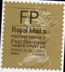 2012 'FP'( O 5) 'POST BRENHINOL' GOLD PERF