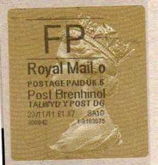 2012 FP ( o 5) POST BRENHINOL TYPE II WITH CODES