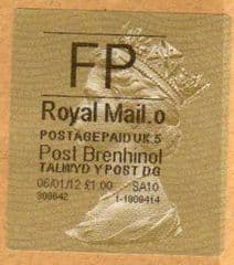 2012 FP ( O 5) POST BRENHINOL GOLD HORIZON (TYPE 2a)