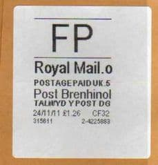 2012 FP ( o 5) 'POST BRENHINOL' WITH CODES
