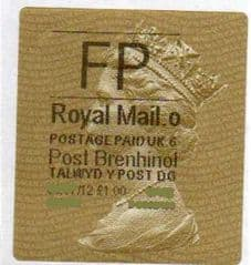 2012 FP ( o 6) POST BRENHINOL TYPE II WITH CODES