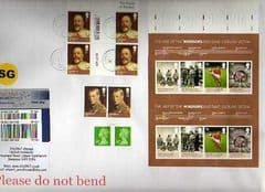 2012 'IMPERFED 'AGE OF THE WINDSOR' (EX PRESS SHEET WITH EMBOSSING ) ON COVER!