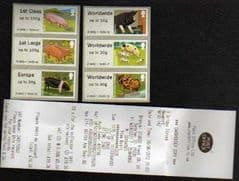 2012 'PIGS' (6v) (FOR THE COLLECTOR) NEWPORT (COPY WELSH RECEIPT)