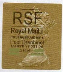 2012 RSF ( i 4)(£0.95) 'POST BRENHINOL' TYPE 2a(NEW SECURITY SLITS)