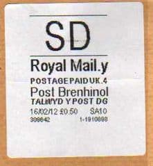 2012 SD (Y 4) POST BRENHINOL CODES - RARE