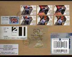 2012 SD(Y 4) WELSH WALSALL TYPE 3 + 2L FASTSTAMP(CARMS)1ST ( UNION FLAG) + STAMPS ON COVER