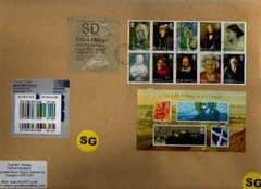 2012 'SD'(Y 6) WELSH TYPE 3 LABEL + SE~TE BLOCK AND M/S ON COVER