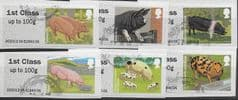 2012 SET 'PIGS' (6v) (TYPE II, EX TALLENTS HOUSE) FINE USED