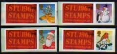 2012 (SET) U/M 'CHRISTMAS 2012' WITH STU1967 STAMPS' TABS (4v)