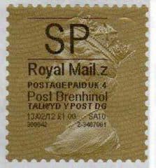 2012 'SP'(Z 4) 'POST BRENHINOL' GOLD PERF