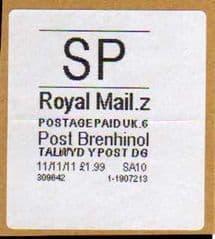 2012 SP ( Z 6) POST BRENHINOL (VERY RARE LATE USE)