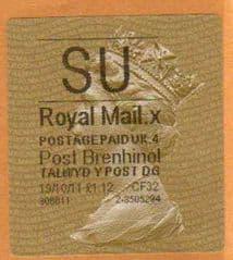 2012 'SU'( X 5) POST BRENHINOL TYPE II (RARE CODE)