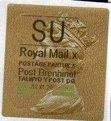 2012 'SU' (X 5) WALSALL WELSH GOLD TYPE 3 LABEL