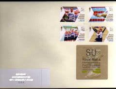 2012 'SU'(X 5)WELSH TYPE 3 + 4 X 1ST PARALYMPIC STAMPS ON COVER