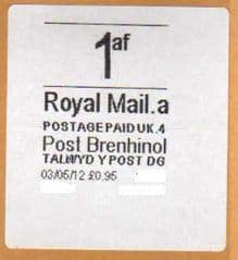 2013 1af (A 4)(£0.95) POST BRENHINOL *VERY RARE LATE USE*