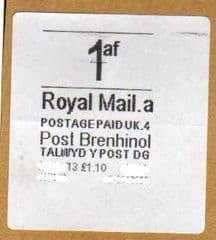 2013 1af (A 4)(£1.10) POST BRENHINOL  *VERY RARE LATE USE*